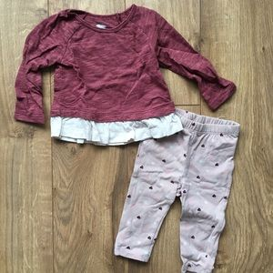 Old Navy baby girl outfit set